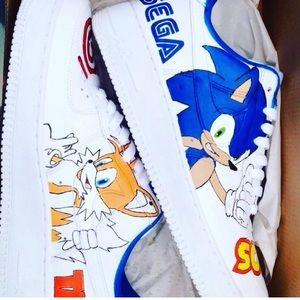 Customized Nike AF1(Sonic Edition)